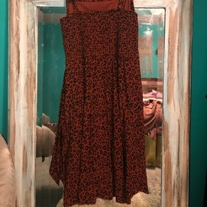 Xhilaration Dresses - Xhilarstion Leapord Square Neck Tie Dress